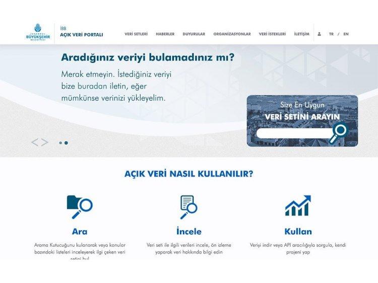 İBB Açık Veri Portal'ını yayınladı