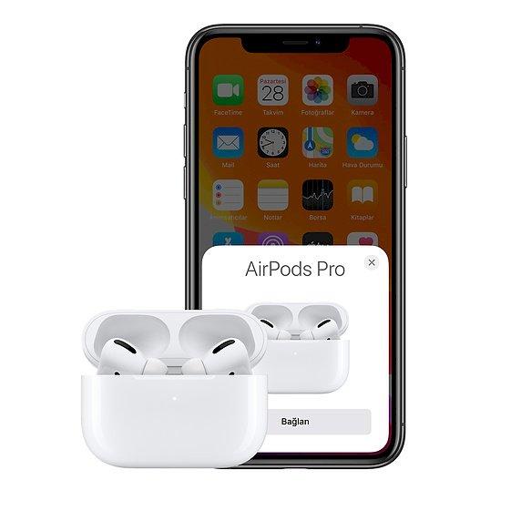 Gürültü önleme özelliğine sahip yeni AirPods Pro şimdi 1.899,00 TL satılıyor