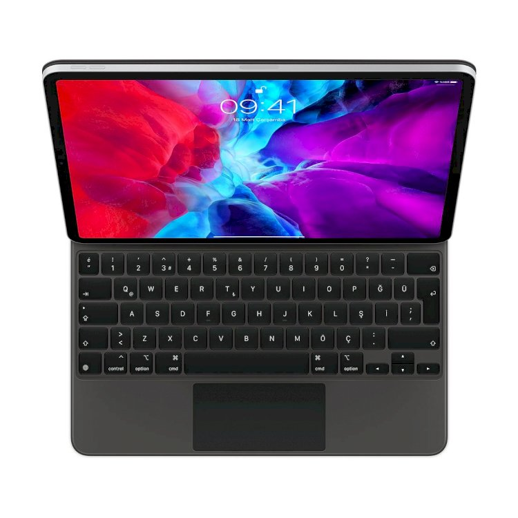12.9 inç iPad Pro (4. nesil) için Magic Keyboard - Türkçe Q Klavye