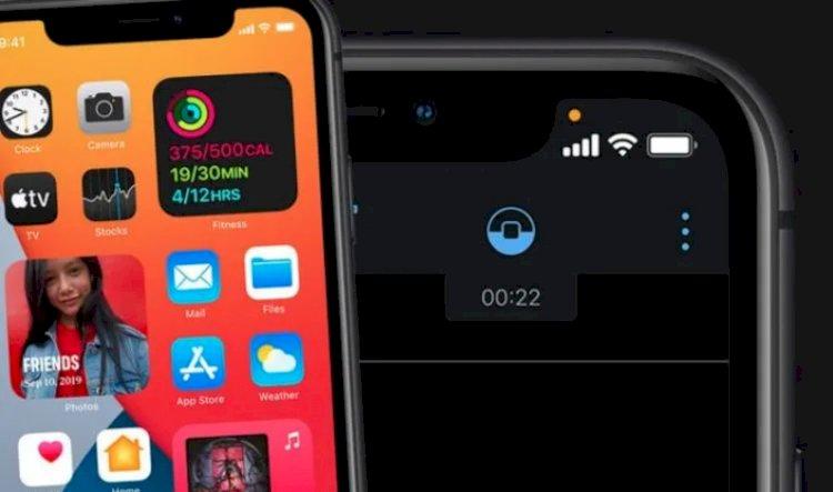 Yeşil nokta ve turuncu nokta Durum çubuğunda ne anlama geliyor? iOS 14